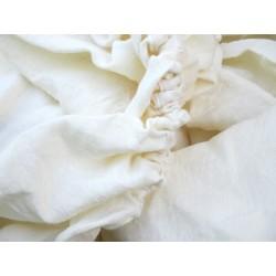 Drap-housse en PUR LIN lavé ivoire