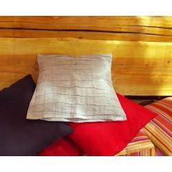 Housse de coussin en lin naturel plissé