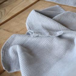 Serviette en pur lin grise nid d'abeille