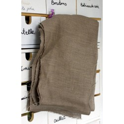 Serviette medium nid d'abeille PUR LIN BLANC