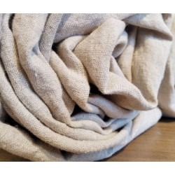Drap-housse en lin naturel lavé et adouci sans teinture