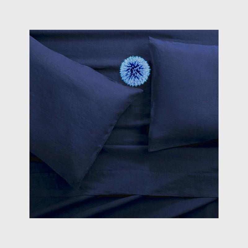 Taie en lin Bleu de France