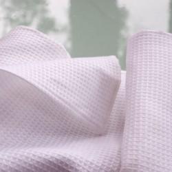 Serviette en nid d'abeille blanc pur lin fabriqué en Europe