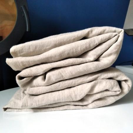 Parure de couette pur lin ivoire 240 x 220 cm + 2 taies