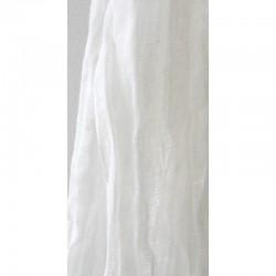 Chèche en pur lin blanc sans frange
