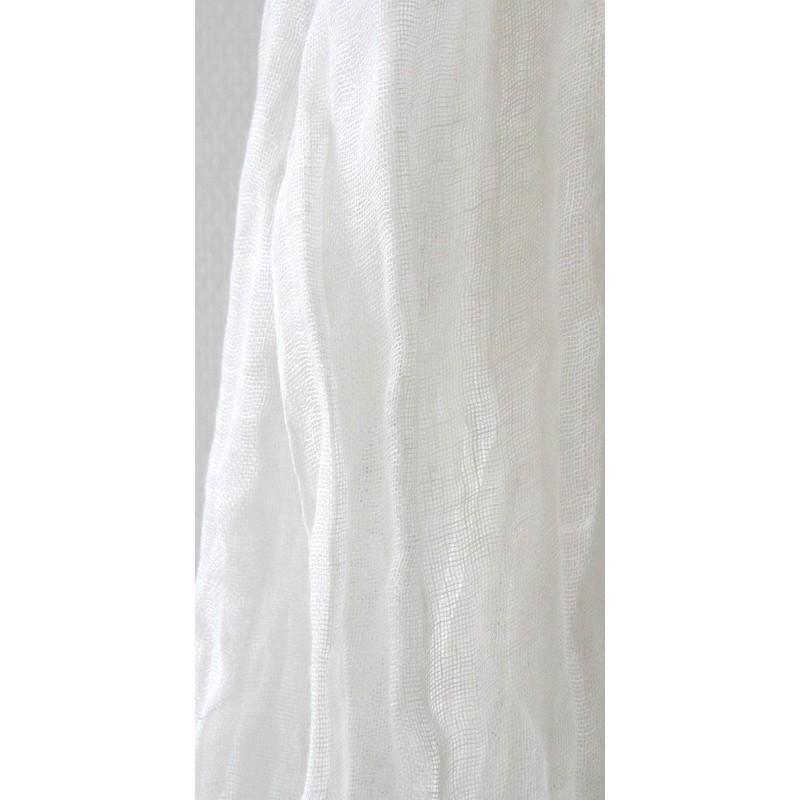 Drap-housse bébé en métisse de lin reconfectionné rose clair 60cm x 120cm