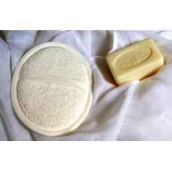 Gant oval en lin ivoire