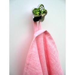 Torchon en lin rose chambray