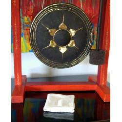 Housse de coussin en lin couleur taupe 40 x 40 cm