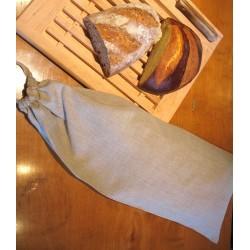 Sac à pain en pur lin naturel