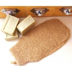 Gant de crin en lin naturel pour gommage