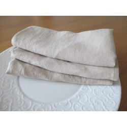 Serviette de table en lin naturel