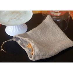 Sac de germination en tissu de lin pour faire germer les graines