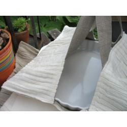 Sac à tarte en lin ivoire plissé