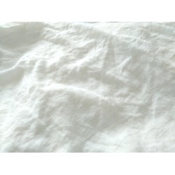 Housse de couette en pur lin blanc lavé